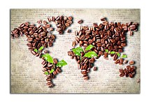 Obraz World Map Coffee zs24857