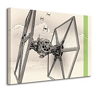 Star Wars Episode VII (TIE Fighter Pencil Art) - obraz WDC99332