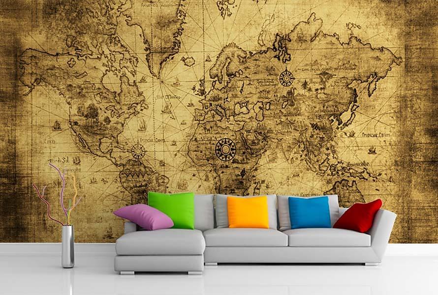 Tapeta Mapa Sveta 57 Vliesova Rozne Fototapety Decotrend