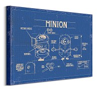 Despicable me blue print - Obraz WDC94474