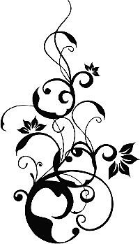 Sablona Na Maľovanie Kvetinovy Ornament Px102 Sablony Rastliny
