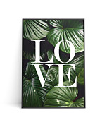 Poster Love green leaves
