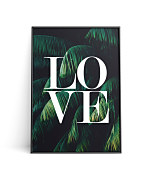 Poster Love Palm leaves