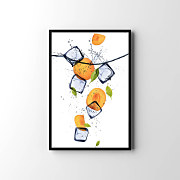Poster Peach with ice cubes zv26026