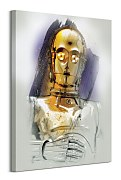 Star Wars: The Last Jedi (C-3PO Brushstroke) - obraz WDC100189