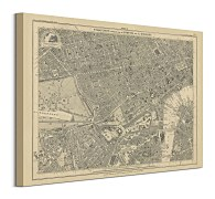 Obraz Stanfords Mapa London 1862 WDC94819