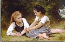 Reprodukcie Bouguereau - The Nut Gatherers zs10167