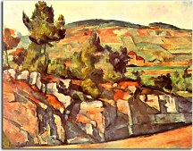 Obrazy Paul Cézanne - Mountains in Provence zs10177