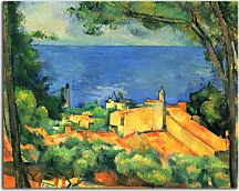 Reprodukcie Cézanne - L'Estaque with Red Roofs zs10181