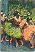 reprodukcie Obrazy Degas - Dancers in Green and Yellow  zs10197
