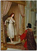 Reprodukcie - Edmund Blair Leighton - The King and the Beggar-Maid   zs10220