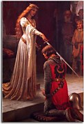 Obrazy Edmund Blair Leighton - The Accolade zs10221