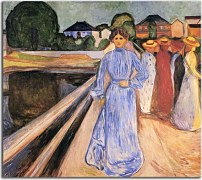 Edvard Munch Reprodukcie - Woman on the Bridge zs10228