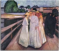 Obrazy Edvard Munch - The Ladies on the Bridge zs10229