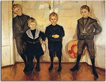 Reprodukcie Edvard Munch - The Four Sons of Dr. Linde zs10230