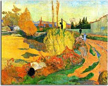 Landscape at Arles - Reprodukcie Paul Gauguin zs10237