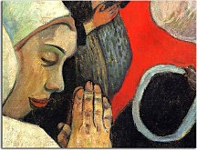 Reprodukcie Paul Gauguin - The Vision after the Sermon (fragment) zs10241