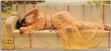 John William Godward - Girl in Yellow Drapery zs10242