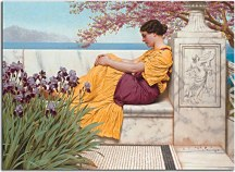 Obrazy J.W.Godward - Under the Blossom that Hangs on the Bough zs10248
