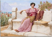 Reprodukcie John William Godward - Tranquillity zs10249