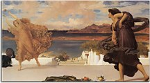 Reprodukcie Frederic Leighton - Greek Girls playing at ball zs10278