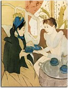 Mary Cassatt Obrazy - Afternoon Tea Party zs10312