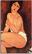 Obrazy Amedeo Modigliani - Nude seating on a sofa zs10318