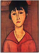Amedeo Modigliani Reprodukcie - Head of a Young Girl zs10321
