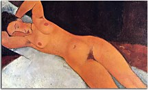 Obraz Amedeo Modigliani - Nude at Necklace  zs10325