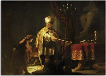 Daniel and Cyrus before the Idol Bel zs10360 - Reprodukcia Rembrandt