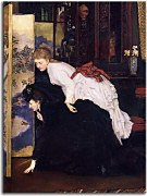 James Tissot - Young Women Looking at Japanese Objects 2 zs10381
