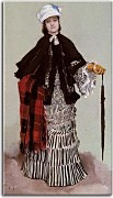 James Tissot - A Lady in a black and white Dress zs10384