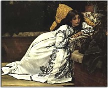 Reprodukcie James Tissot - Girl in an armchair zs10385