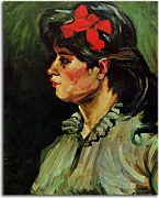 Vincent van Gogh - Portrait of a Woman with Red Ribbon zs10386