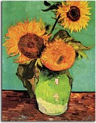 Obrazy Van Gogh - Three Sunflowers in a vase zs10391