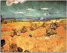 Vincent van Gogh - Wheat Stacks with Reaper zs10394