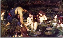 Obrazy John William Waterhouse - Hylas Nymphs  zs10399