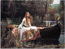 Reprodukcie John William Waterhouse - Lady Shalott zs10400