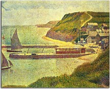 Reprodukcie Georges Seurat - Harbour at Port-en-Bessin at High Tide zs10425