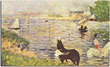 Georges Seurat - Horses in the Water Obraz zs10429