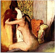 Obraz Degas - After the Bath, Woman Drying Her Napezs16632