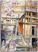 Edvard Munch Reprodukcie  - Building the Winter Studio. Ekely zs16657