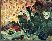 Reprodukcie Edvard Munch - By the Deathbed zs16658