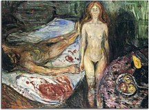 Reprodukcie Edvard Munch - Death of Marat I zs16660