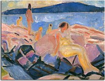 Edvard Munch Reprodukcie  - High Summer II zs16664