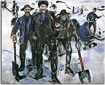 Workers in the Snow Obraz Munch zs16697
