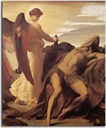 Elijah in the Wilderness - Frederic Leighton Obraz zs16708