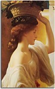 Eucharis, A Girl with a Basket of Fruit - Frederic Leighton Obraz  zs16709