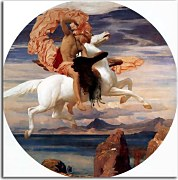 Perseus on Pegasus hastening to the rescue of Andromeda - Reprodukcia Frederic Leighton zs16725