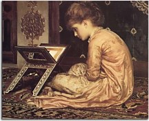 Study: At a Reading Desk - Reprodukcia Frederic Leighton zs16732